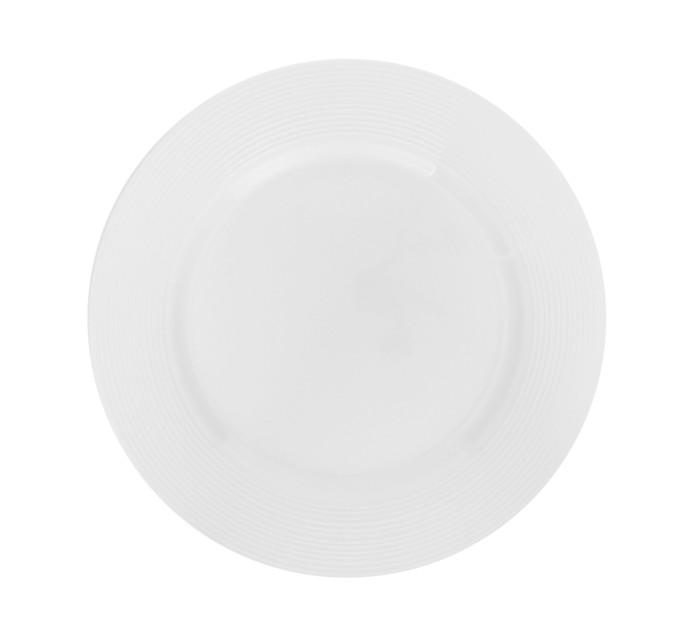 Basic White 27 cm Basic White Ribbed Dinner Plate