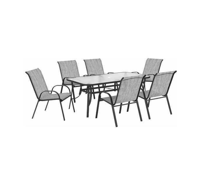 Terrace Leisure 7 Piece Manor Textilene Patio Set Steel Furniture