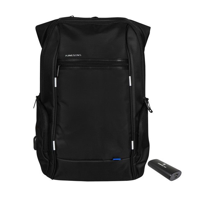 """Kingsons 39 cm (15.6"""") Smart Laptop Backpack with Powerbank"""