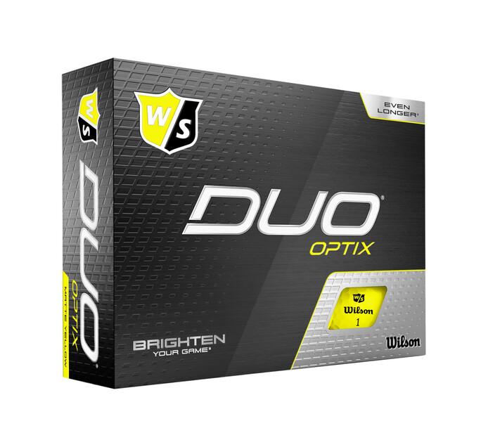 Wilson Staff Duo Optix Golf Balls 12-Pack Yellow