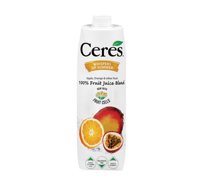 Ceres Fruit Juice Whisper Summer (12 x 1L)