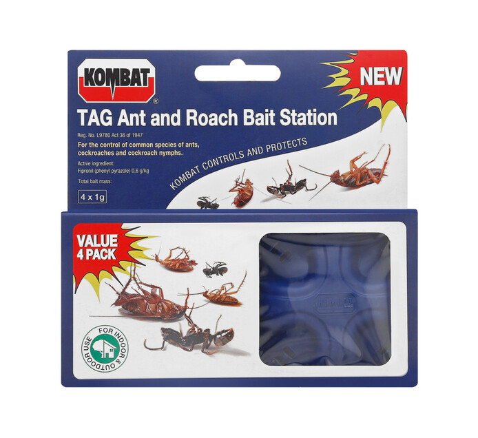 Starke Ayres 4-Pack Kombat Ant and Roach Bait Station