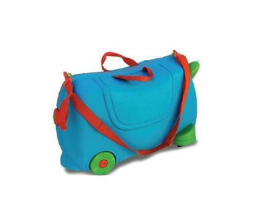 Kids Ride On Luggage Travel Toy Suitcase - Blue