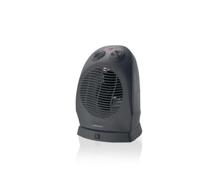 Heater Oscilating Floor Fan Plastic Graphite 2Heat Settings 2000W