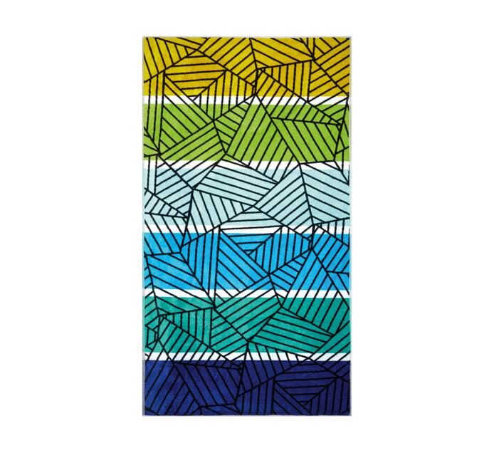 Colibri 100 x 180 cm Velour Beach Towel geo tropics