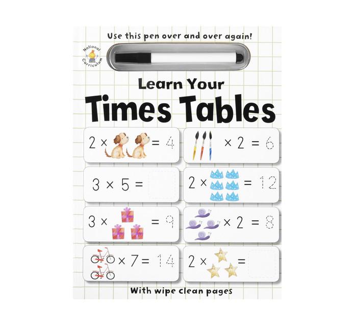 Wipe Cl;ean learn Yuor Time Tables