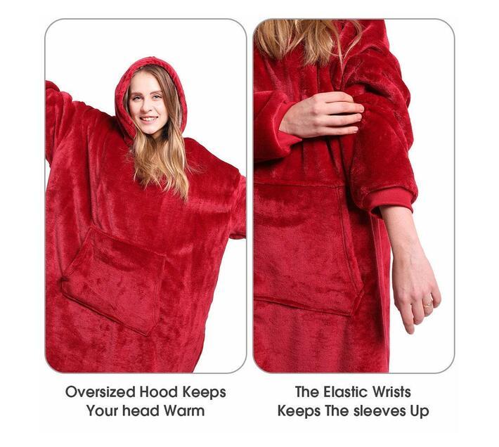 Comfort Hoodie Blanket- Maroon