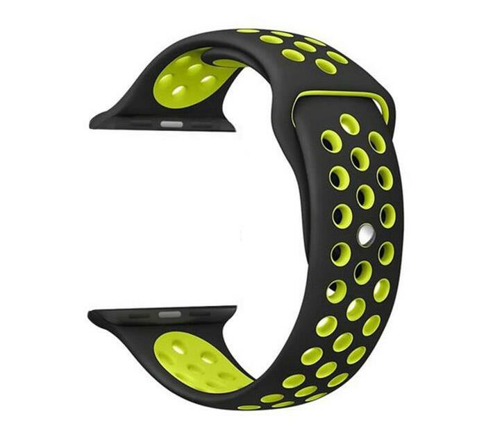 Zonabel Sport Strap for 42mm Apple Watch - Black & Yellow