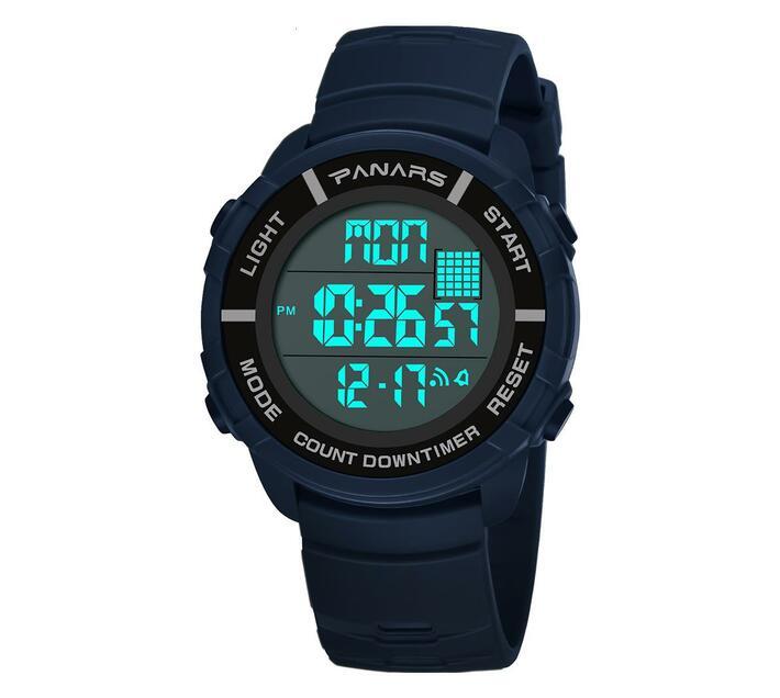 PANARS Digital Watch Countdown Timer Clock 8107 Blue