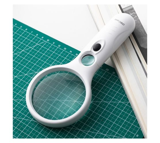 Deli Stationery Magnifier Large Glass: 3X, White