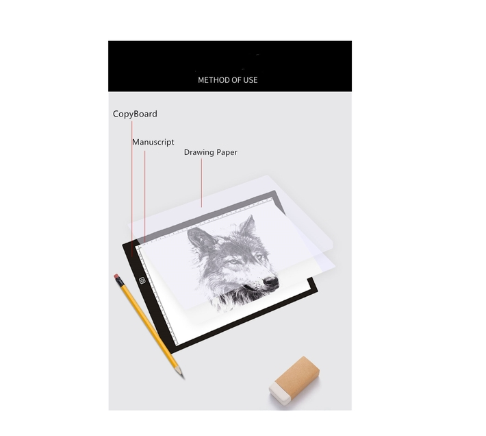 A4 12 Inch Artist Drawing Boards Dimming Art craft Tracing Light Box 2020 New Arrival -Blue
