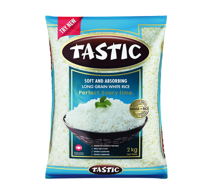 Tastic Long Grain Rice White Soft And Absorbing (1 x 2kg)