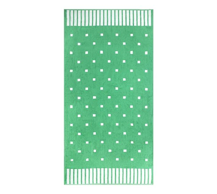 Polka Squares Beach Towel 2019 90x180cms 700gms - Green