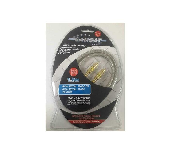 1.8 Meter RCA Digital Coaxial Cable 75ohm RG59u – SPDIF (Dolby Digital or Subwoofer Cable)