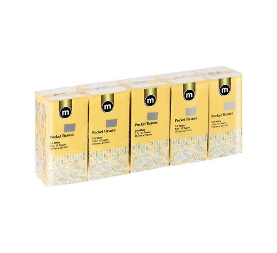 M Pocket Packs 3Ply White (20 x 10's)