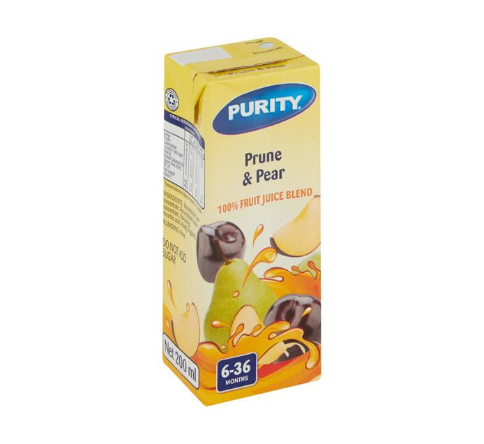 Purity Fruit Juice Prune & Pear (6 x 200ml)