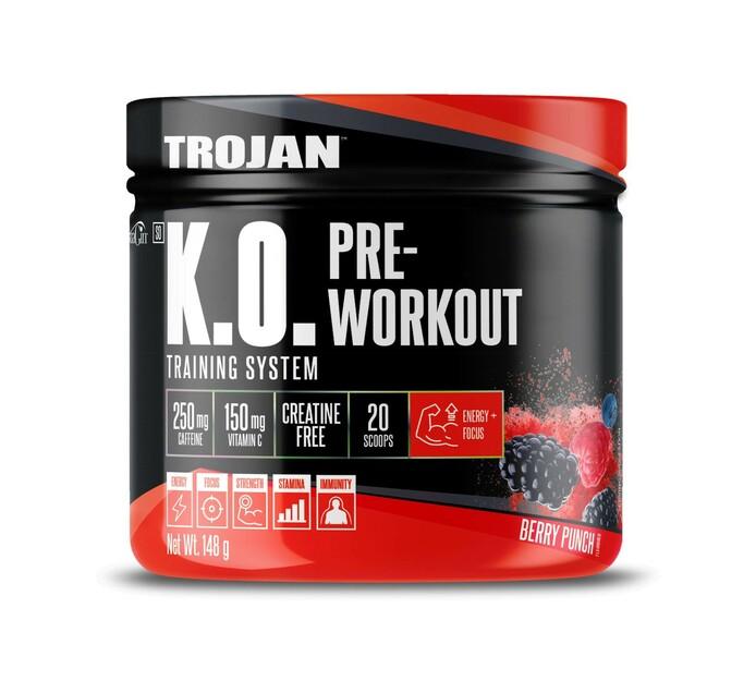 Trojan 148 g K.O Pre-Workout Berry Kick