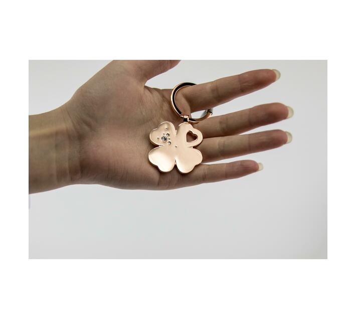 Troika Lucky Clover Keyring Rose Gold