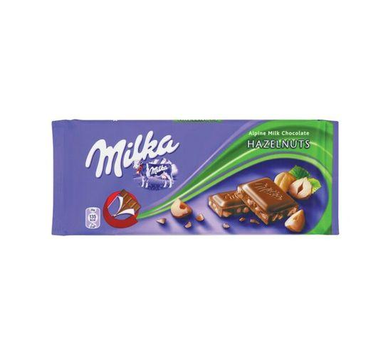 Milka Chocolate Slab Hazelnut (1 x 100g)