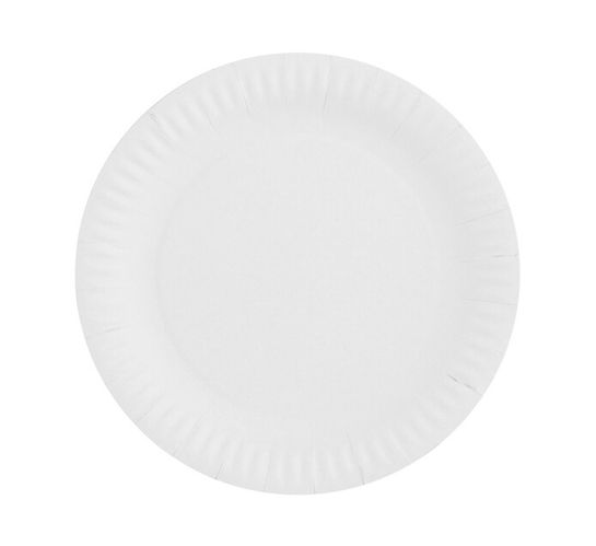 M Paper Plates White (1 x 50's x 230mm)