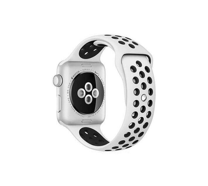 MDM NIKE STYLE STRAP FOR APPLE WATCH 38MM-White and black