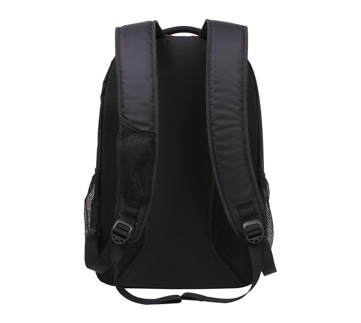 Kingsons Blue Stripe Series 15.6 (39.6cm) Black Laptop Backpack with Dedicated Laptop Compartment and Adjustable Shoulder Straps
