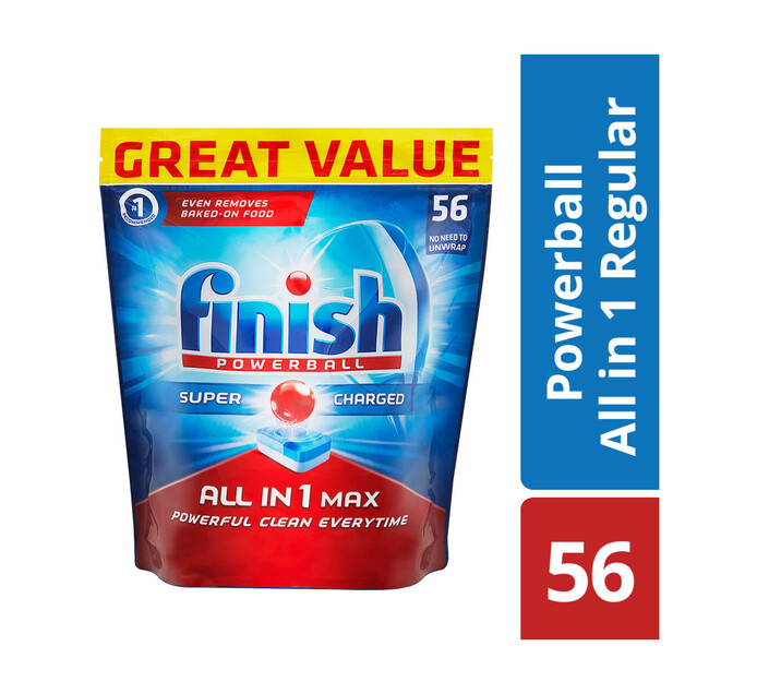 Finish All In One Auto Dishwashing Tablets Regular (1 x 56's)