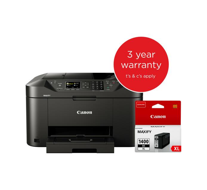 Canon MAXIFY MB2140 4-in-1 Colour Inkjet Printer plus Black Ink