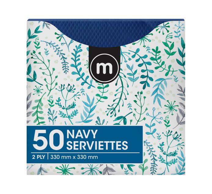 M Serviettes 2Ply 330mmx330mm Blue (1 x 50's)