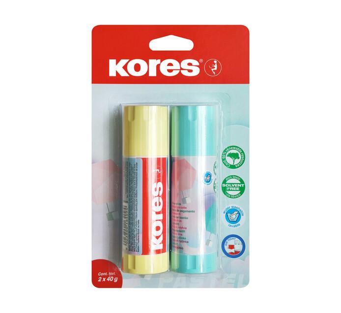 Kores 40g Pastel Glue Stick 2 Pack
