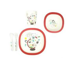Bamboo THE WORLD 5pcs kid's meal set