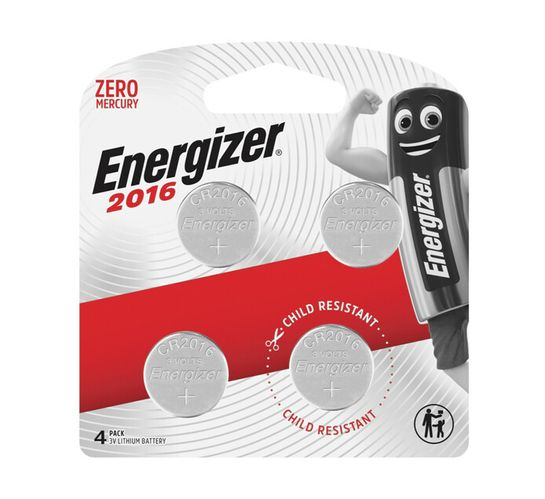 Energizer Lithium Coin 2016 BP4 Pack