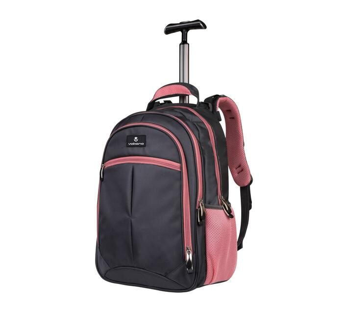 Volkano Orthopaedic Series 15.6` Trolley Backpack in Grey and Pink with Air-Passage Technology