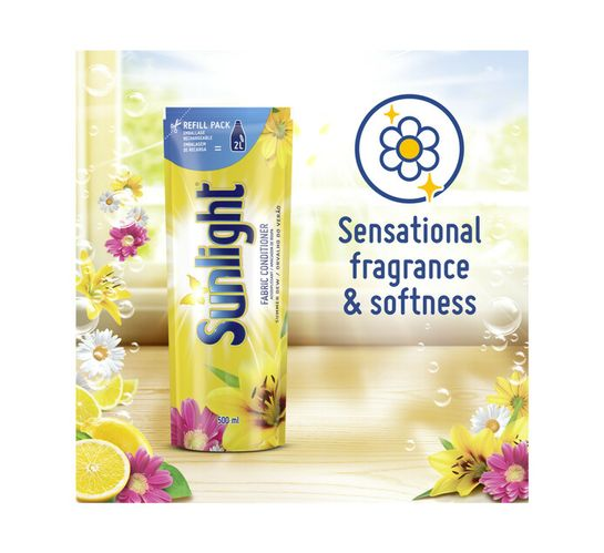 Sunlight Fabric Softener Refill Summer Dew (1 x 500ml)