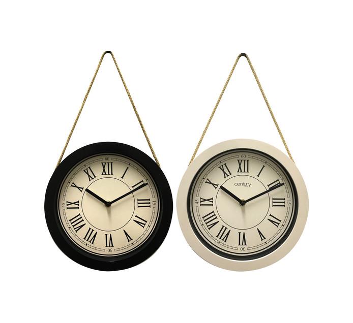 Century 25cm Clock with Rope