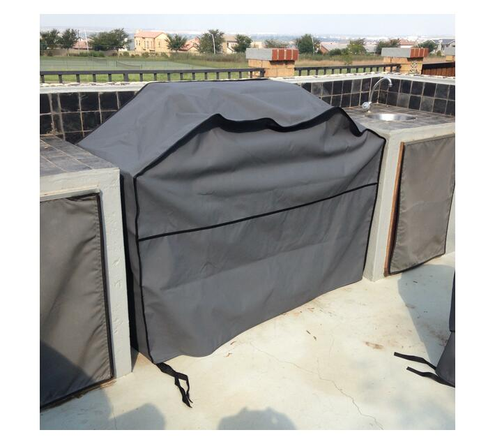 Patio Solution Covers Gas Braai Cover Small - Charcoal Ripstop UV 320grm