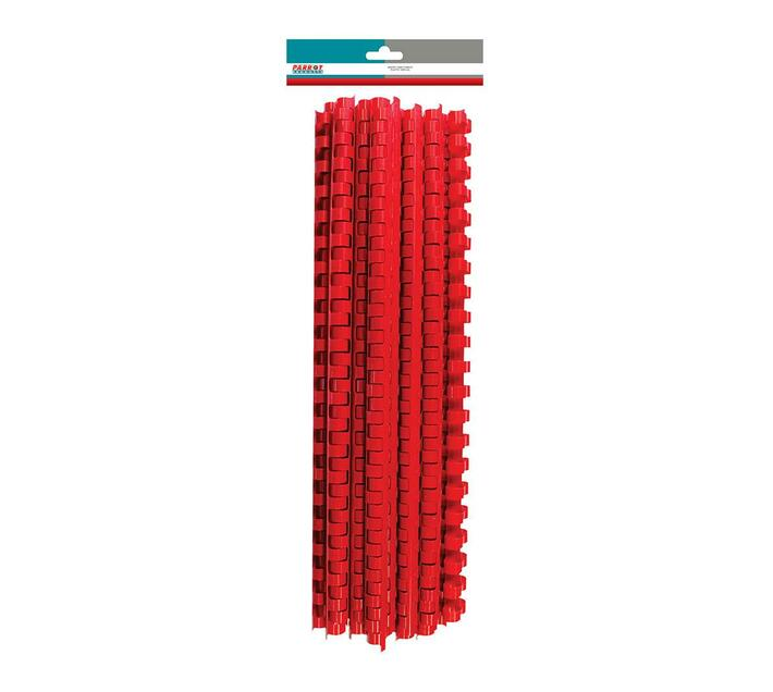 PARROT PRODUCTS Plastic Binder Combs (350 Sheet, 45mm, Red, 25 Units)