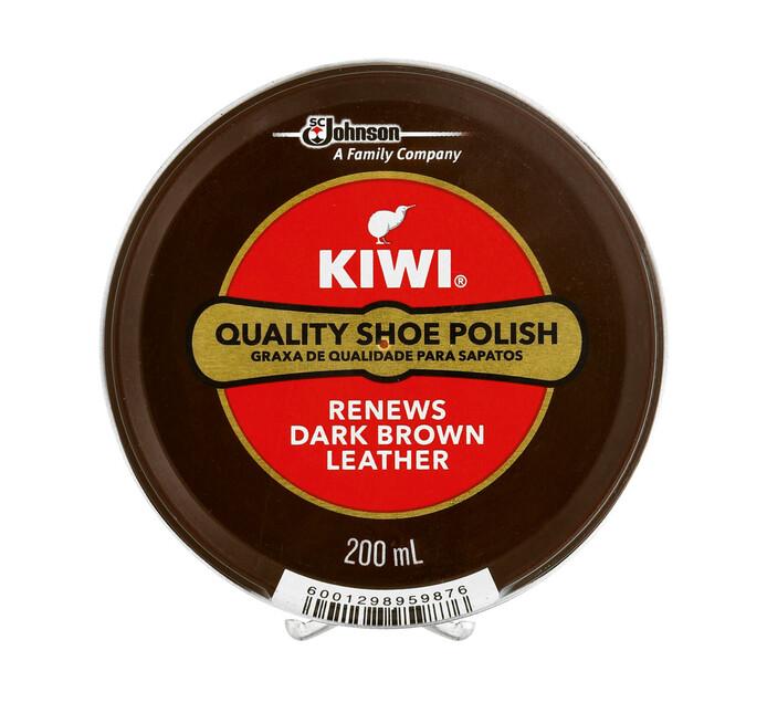 Kiwi Dark Brown Shoe Polish (1  x 200ml)