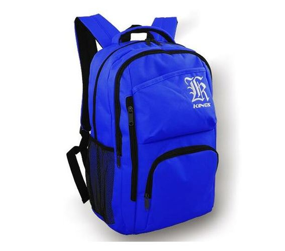 2615 A Royal blue -symmetrical Embroidered logo center front backpack