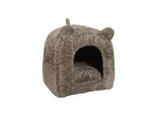 Rosewood Pet Bedding Brown Teddy Bear Cat Bed