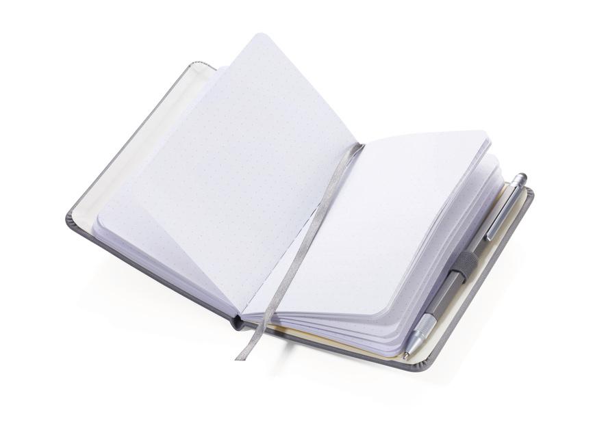 Troika Notepad A6 with Slim Multitasking Ballpoint Pen Grey