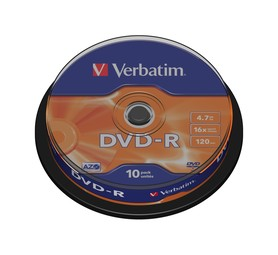 VERBATIM 4.7 GB DVD-R Spindle (10 Pack)