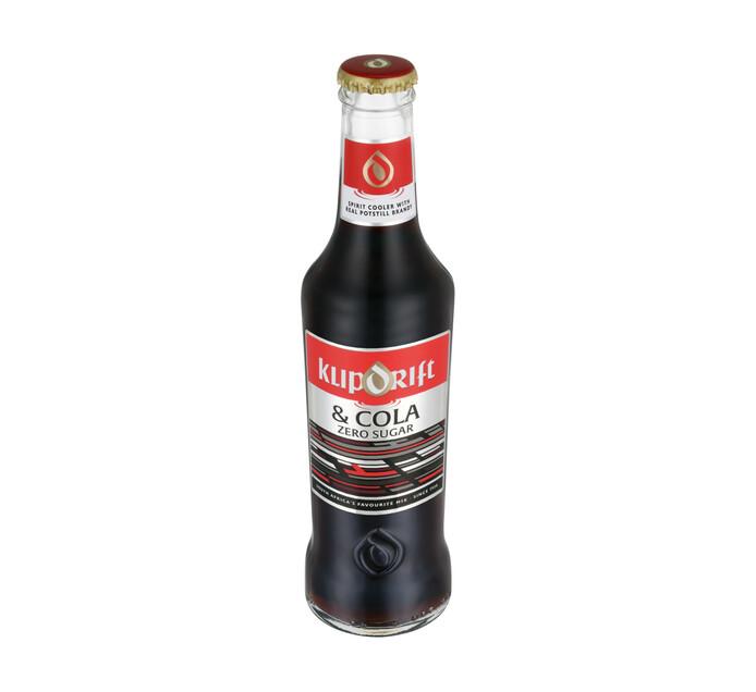 Klipdrift & Cola Zero Sugar (275ml)