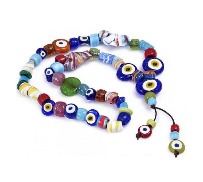 Turkish Handmade Evil Eye Rosary Beads Wall Decor
