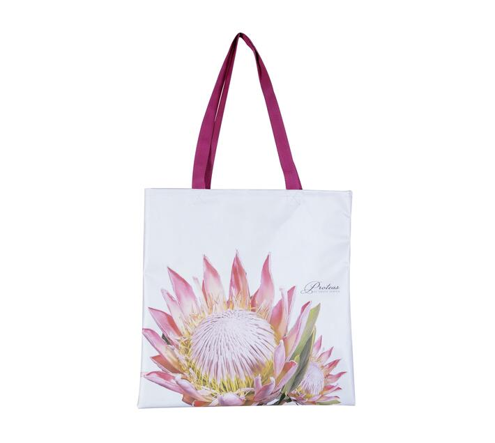 Tote Bag made with canvas with King Protea print.
