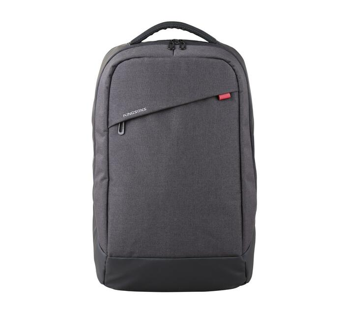 Kingsons Trendy Series 15.6` (39.6cm) Laptop Backpack in Grey with Padded Shoulder Straps and Breathable Padded Back