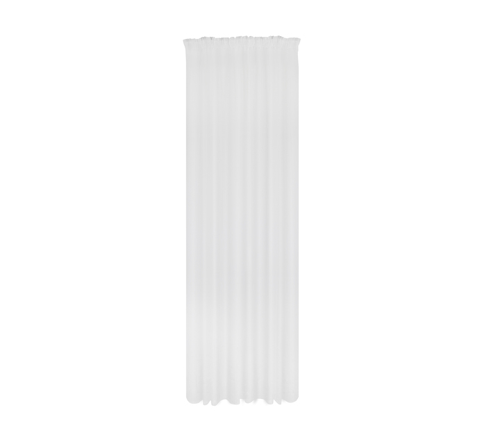 Design Collection 250 x 218 cm Plain Voile Curtain White