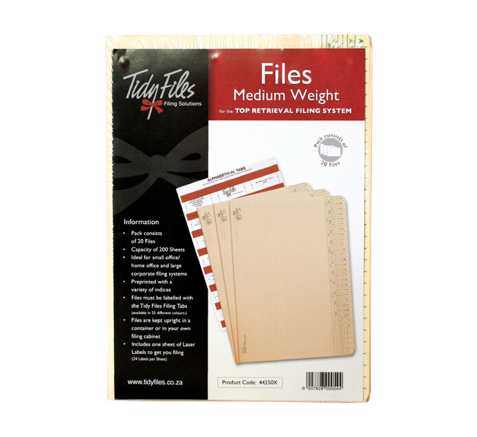 Tidy Files Medium Weight Files 20-Pack