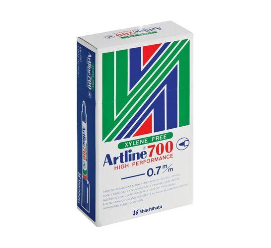 Artline EK700 Permanenet Markers Black 12-Pack