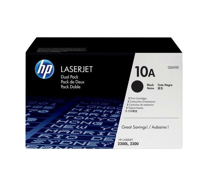 HP 10A - 2-pack - black - original - LaserJet - toner cartridge (Q2610D)